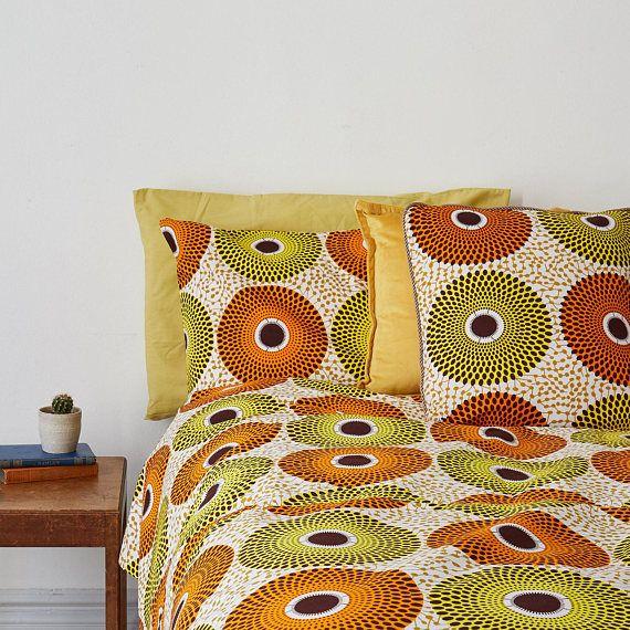 Couette Imprime Africain Set Housse De Couette Literie Decoration Africaine Decoration Interieure Africaine Parure De Lit