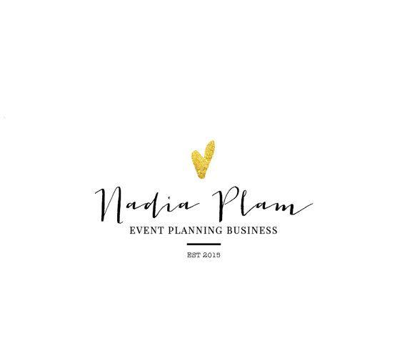 Premade logo template for a wedding planner, event planner, lifestyle blogger, fashion blogger, interior designer, photographer