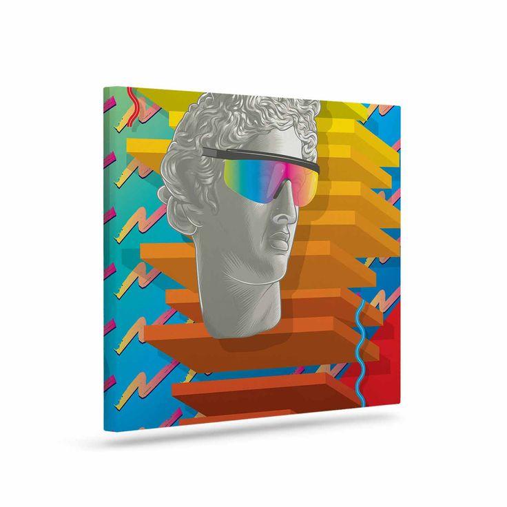 "Roberlan ""Super Tacky System III "" Yellow Orange Canvas Art"