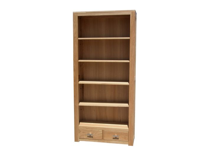 Solid Oak Bookcase / Wide    This elegant looking solid oak bookcase gives a professional look to your study and works in an impressive combination with our Solid Oak Computer desks.  Dimensions WxDxH(mm)  920*280*2000    Special Price: £299.00