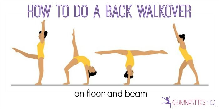 A back walkover is a skill that usually a gymnast learns twice, once on floor and once on beam. On both floor and beam it can be a scary skill, because it's usually the first time a gymnast i…