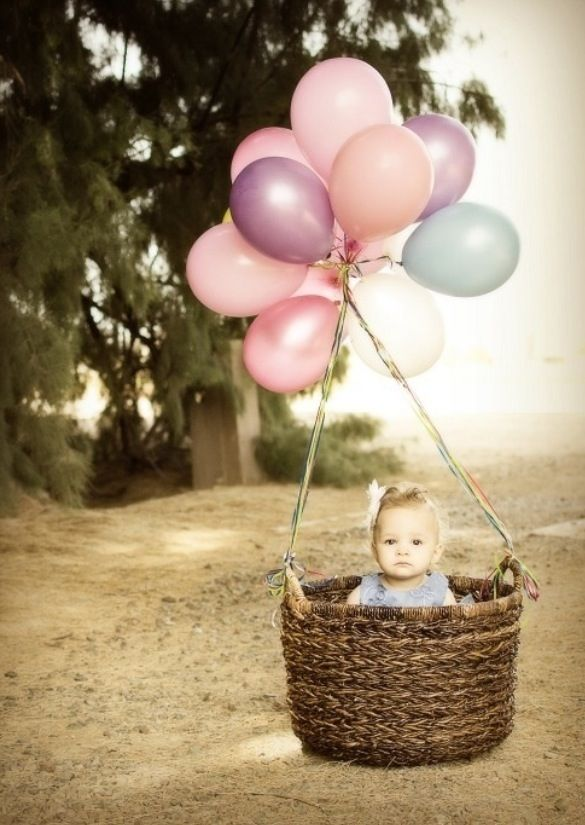 first birthday invitation for my son%0A Your girls bday photo shoot  How cute is this Baby in the Balloon Basket   INVITE IDEA or first birthday photo shoot  You have a basket Becky   cute  idea