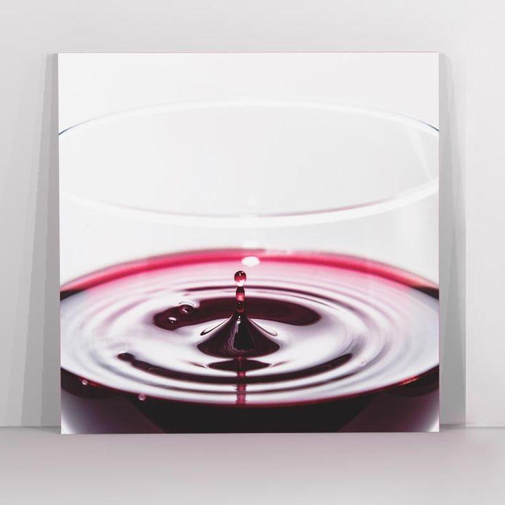 Πίνακας σε καμβά ποτήρι κρασιού