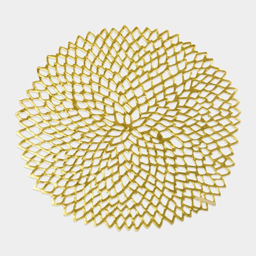 $8 Dahlia Placemats (come in gold and gunmetal)