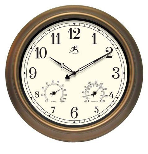 Infinity Instruments Wall Clock  The Craftsman >>> Want additional info? Click on the image.