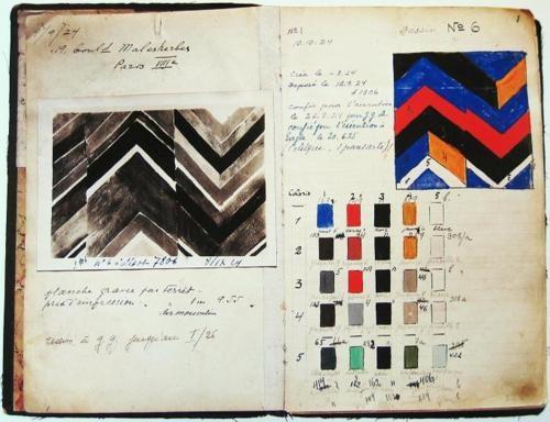 carnet de croquis de Sonia Delaunay