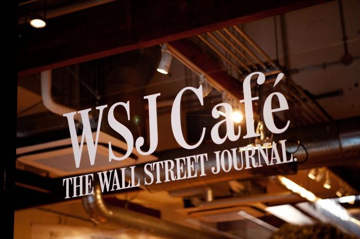 WSJ Cafe signage