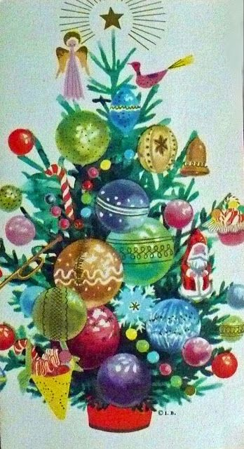 The Last Door Down Hall Vintage Christmas Tree Cards