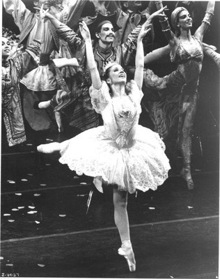 Meg Gurin Paul as the Sugarplum Fairy in Joffrey's Nutcracker. She was also prominently featured in Billboards. Went on to perform in Tharp's Movin Out. Today, is a dance lecturer at Detroit's Wayne State University.