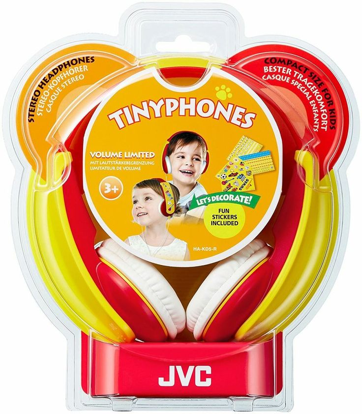 JVC HA-KD5 TINYPHONES Headband Headphones - With FUN Stickers - Red | Sound & Vision, Headphones | eBay!