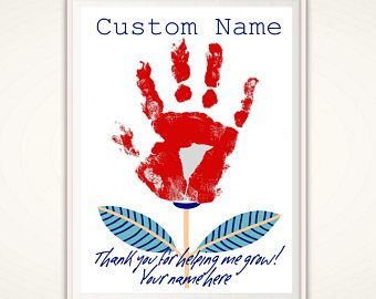 Gift for Dad - INSTANT Download  This personalized DIY handprint art gift from the kids sends a special Best Dad in the World message to their Daddy.  This beautiful father print can be personalized with YOUR OWN kids handprints - making it a unique and personal gift for their dad. Perfect for Fathers Day or as a birthday present. ADD YOUR OWN hand-prints to make this really special.  ******************* INSTANT Download - You print this yourself! ********************  Fathers are always…