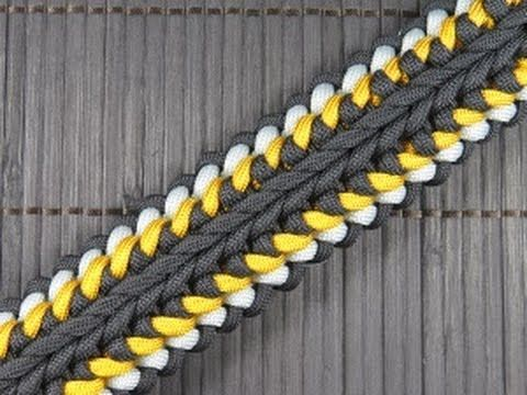 How to make a Sanctified Switchback Paracord Buckle Bracelet - YouTube