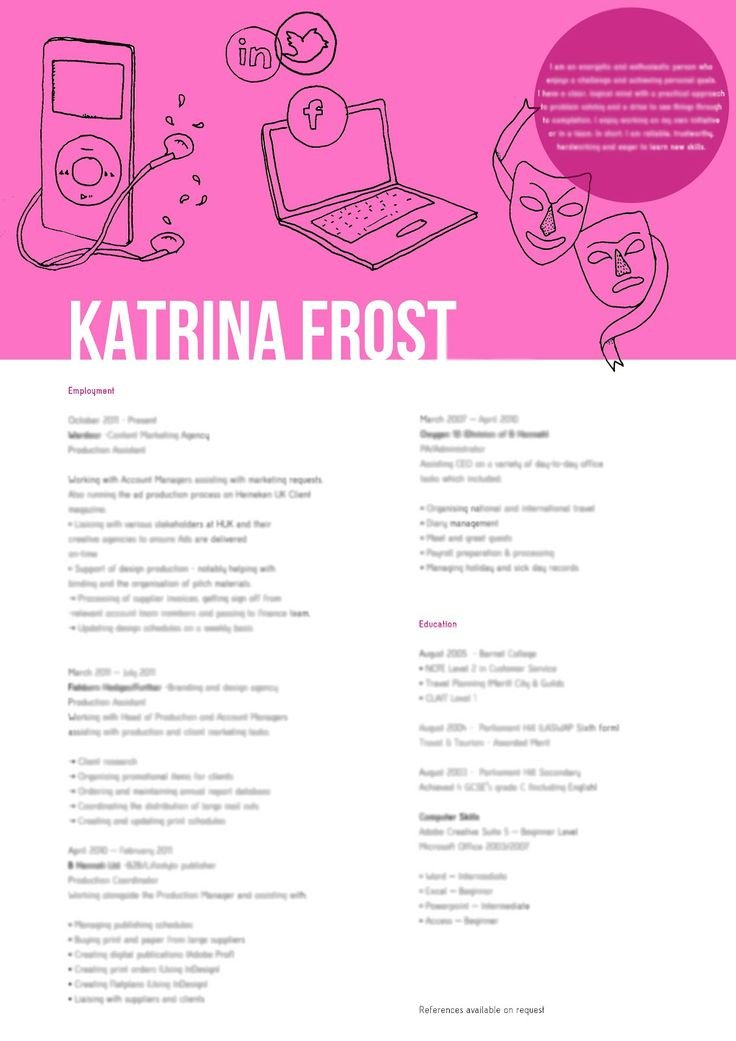 25 best CV design images on Pinterest Curriculum, Cv design and - hobbies and interests on resume