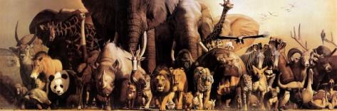 Noah's Ark Poster: Wild Animal, Haruo Takino, Canvas Prints, Noah Ark, Art Prints, Poster, Haruko Takino, Jigsaw Puzzles, Ark Prints