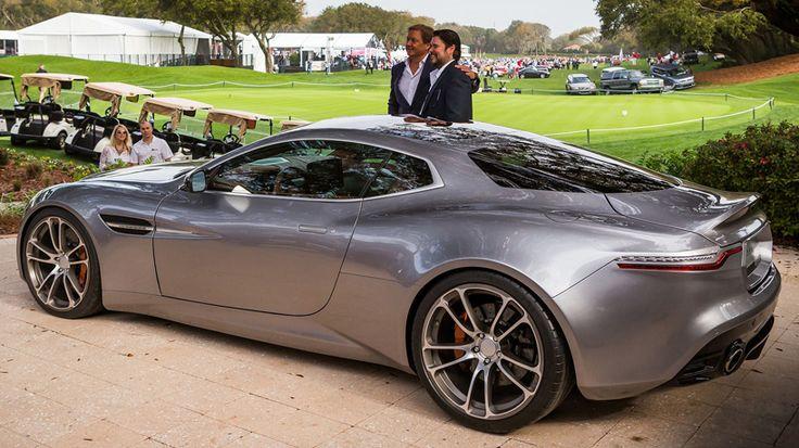 unveiled at florida's 2015 amelia island concours d'elegance, henrik fisker's 'thunderbolt' is a coupé interpretation of the aston martin 'V12 vanquish'