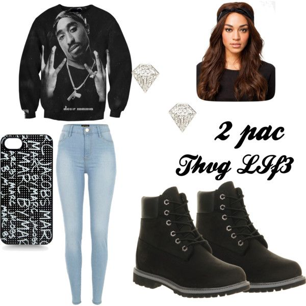 """""""2 PAC THUG LIFE"""" by hatianmamacita on Polyvore"""