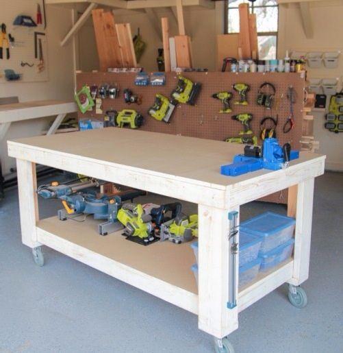 Work Bench made with Kreg Jig