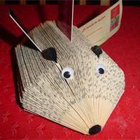 Hérisson-livre de poche Tuto pour fabriquer - Loisirs créatifs  http://www.bluemarguerite.com/Loisirs-creatifs/tuto-405-herisson-livre-de-poche.deco