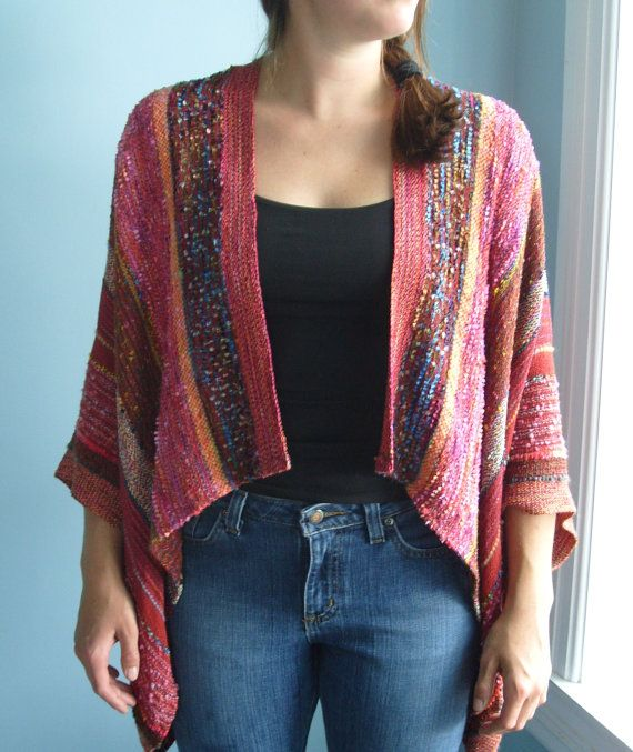 Handwoven Jacket / Shawl / Woven by barefootweaver on Etsy, $375.00