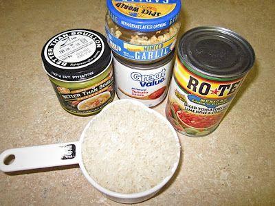 Spanish Rice ingredients