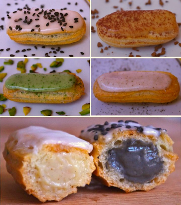 25 trending gateau creme patissiere ideas on pinterest tarte creme patissiere recette creme - Glacage chocolat pour eclair ...