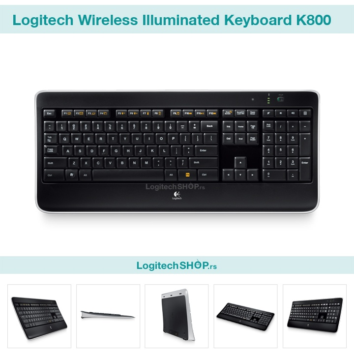 Logitech Wireless Illuminated Keyboard K800