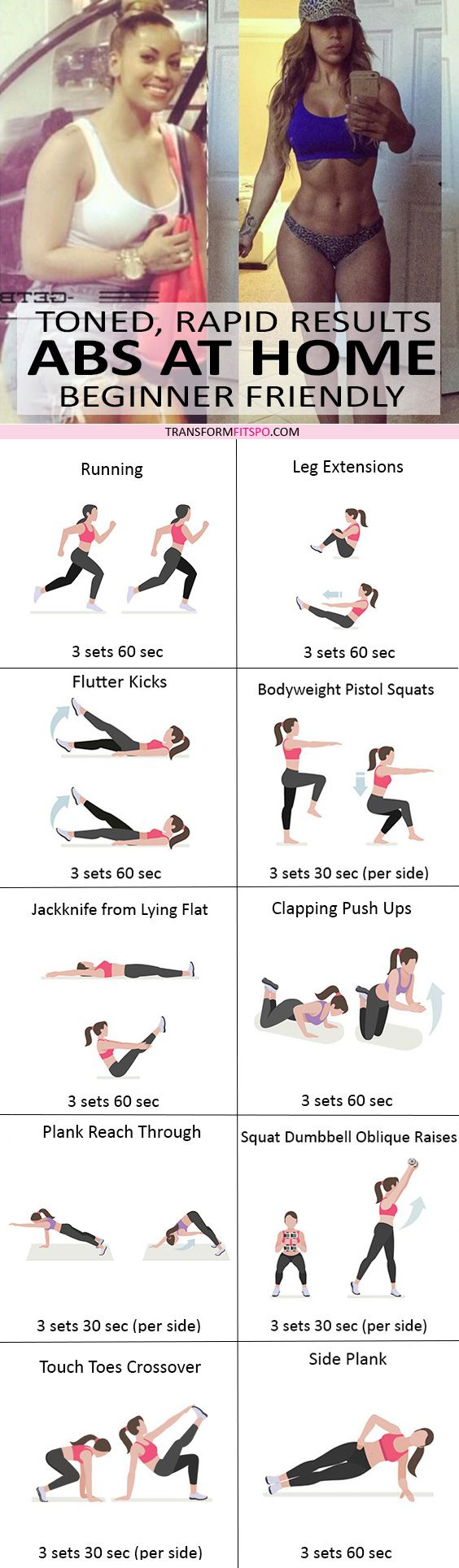 #womensworkout #workout #femalefitness Repin and share if this workout hard abs from home! Click the pin for the full workout.