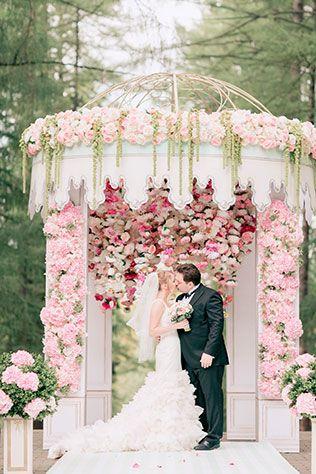 Свадьба в стиле французского кондитерского дома Ladurée, церемония