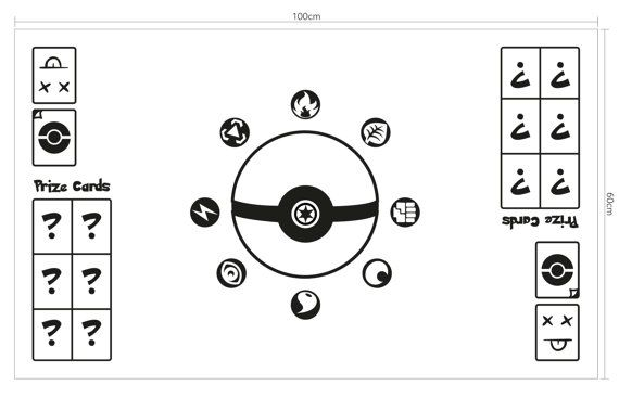 Pokemon vinyl decal create your own game table play mat by for Table mats design your own