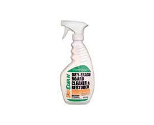 Dry-Erase Board Cleaner  A natural soy-based nontoxic product that removes all colors of dry erase markers from white boards. Removes shadow tracings, tape mastic, ghostings and stubborn, hard to remove markings.