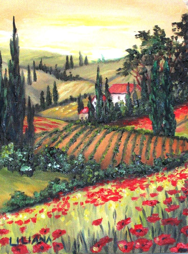 Tuscany Painting By Liliana In 2019 Watercolor Art
