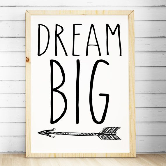 Nursery Print | Boho Bedroom Wall Art | Tribal Prints | Arrow Print | Dream  Big Print | Tribal Decor | A4 A3 | Kids Wall Art Prints