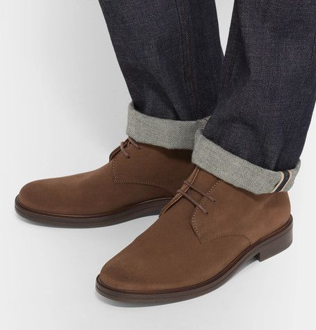 Originally worn by the British military, desert boots are a footwear classic and versatile wardrobe staple. A.P.C.'s version is made from soft suede that will mould to the contours of the foot for superb comfort. The classic tan hue will work as well with dark denim as it will neutral chinos.