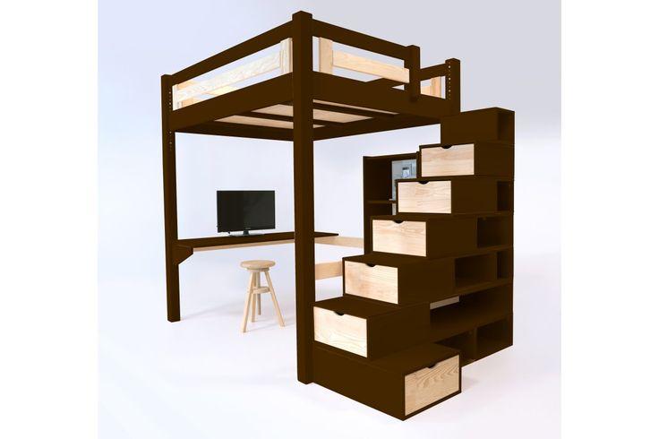 les 25 meilleures id es concernant lits mezzanine sur pinterest lits superpos s pour filles. Black Bedroom Furniture Sets. Home Design Ideas