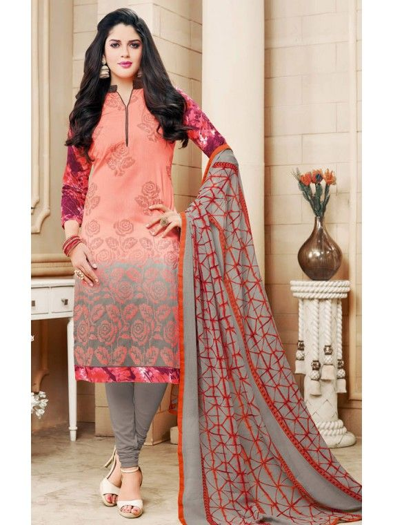Charming Peach Indian Salwar Suit