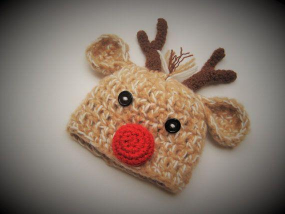 Santa's Reindeer Hat Boy or Girl Photo Prop by AdrisLittleCuties