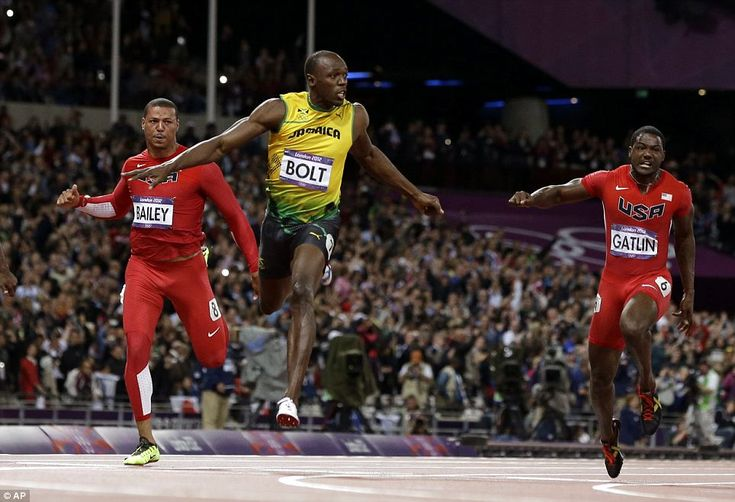 3 fastest men on earth, 100 m dash, 2012 Olympics