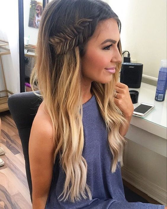Hairstyles For Straightened Hair : 1214 best long hair dont care images on pinterest