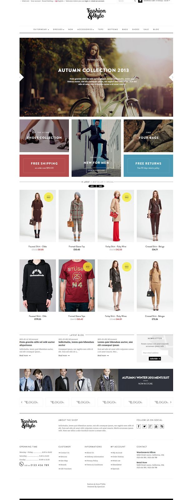 Pav #Fashion #Responsive #Opencart #Theme comes up with pure white and black, which perfectly reflect your #amazing #products. With combination of...