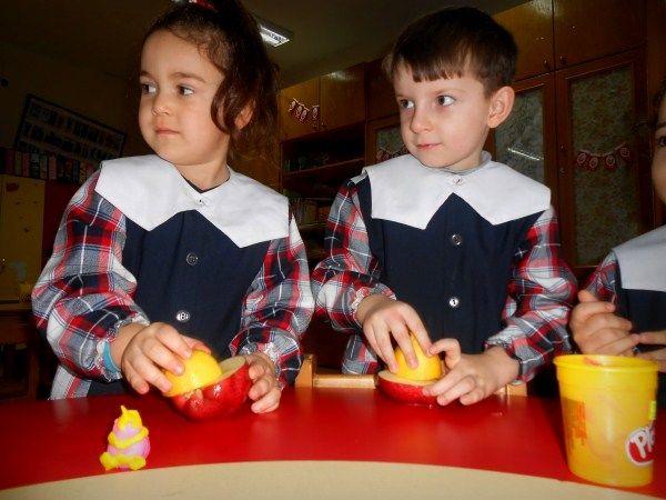 Okul öncesi eğitim : MİNİ GÜNCE: Elma Kesilince Neden Kararır ? Kararmayı nasıl önleriz ?