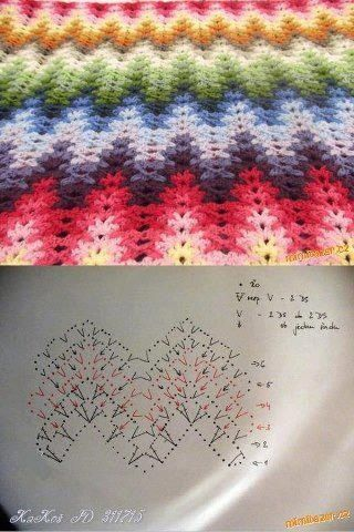 Manta tejida en degrade de colores