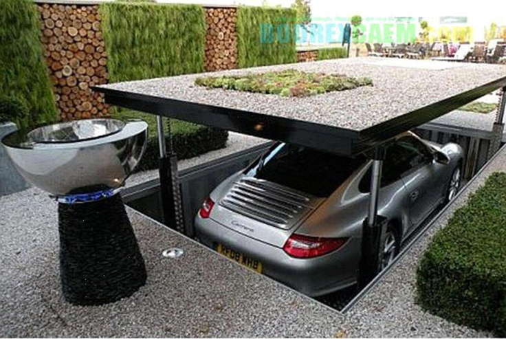 Invisible Underground Car parking with hydrolic lift