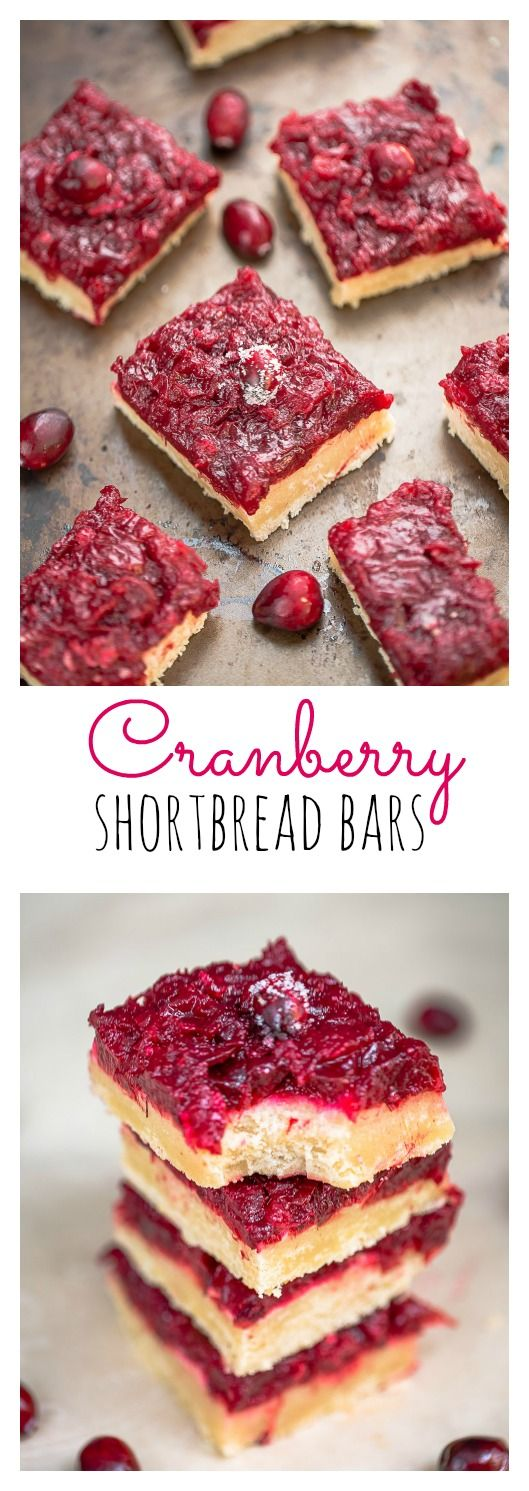 Cranberry Shortbread Bars are just perfect for using up any leftover cranberry sauce
