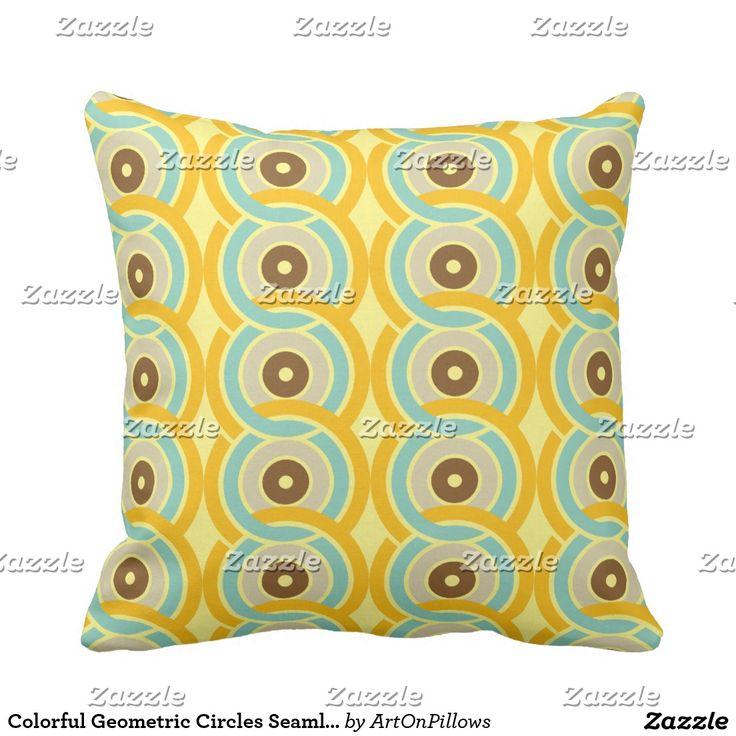 Het kleurrijke Geometrische Naadloze Patroon van Kussen
