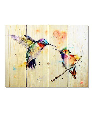 Another great find on #zulily! Wile E. Wood Love Birds Indoor/Outdoor Wall Art #zulilyfinds