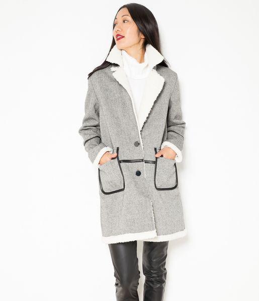 Manteau femme fourré oversize