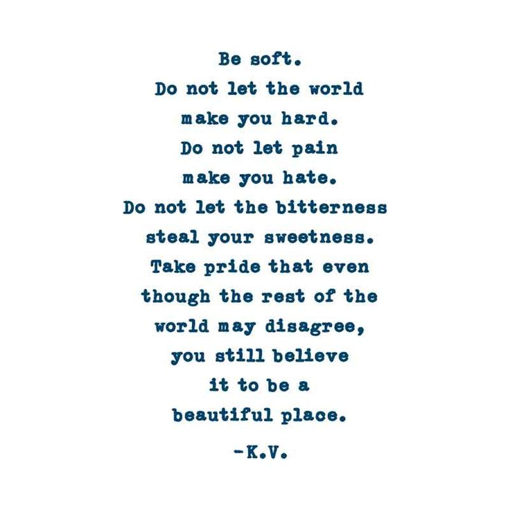 Be Soft. Don't Let The World Make You Hard. Kurt Vonnegut Quote Temporary Tattoo