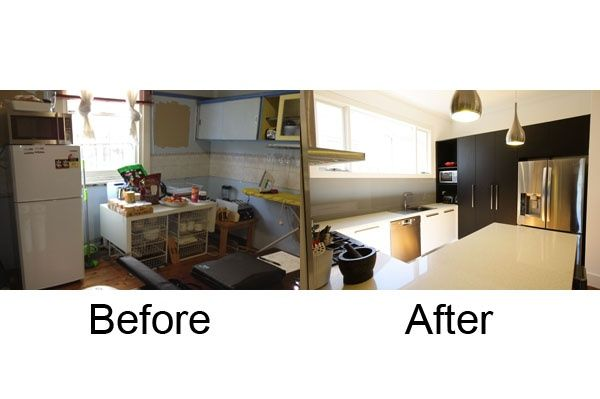 Look at this small kitchen transformation! See more on: http://www.smarterkitchensmelbourne.com.au/small-kitchen-renovation/