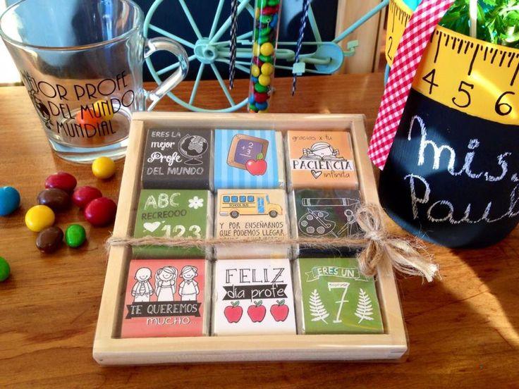 Chocolates personalizados para el Día del Profesor!!! Regalos originales!!! www.colorete.cl / Chile