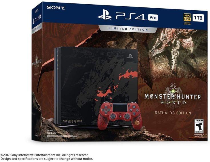 Playstation 4 pro 1tb monster hunter world limited edition